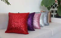 Wholesale 2016 cheap fashion luxury sequin cm cushion pillow Decorative Pillow cover home textile high quality