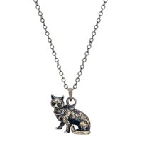 animal shapes like - 1pcs New Design Cute D Realistic Grumpy Kitty Cat Necklace Life Like Animal Shaped Charm Necklace For Men Women Gift