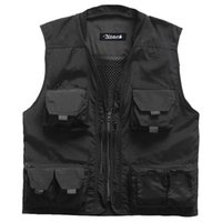active shot - 2016 New Arrival Quick Drying Summer Outdoor Men s Multi pocket Vest for Hunting Shooting Travel Photography Knitted Collar Vests
