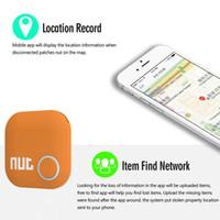 Wholesale DHL Ship Wireless Bluetooth Nut tracker Smart finder Tag Tile GPS Key Finder Alarm Sensor Anti Lost Bag Wallet Locator