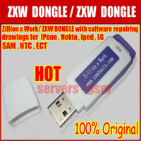 Wholesale 100 original Zillion x Work ZXW dongle with software repairing drawings For Iphone Nokia Samsung HTC