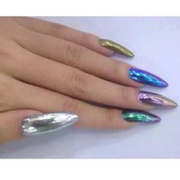 Wholesale 5G Jar Mirror Chrome Pigment Powder Nail Glitters chrome effect mirror nail powder Tools Nail Art colors