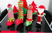 Wholesale Wine Bottle Bag Wine Bottle Covers christmas table decorations Articles Christmas Gift Bags Wine Packaging christmas Cheap party decorations