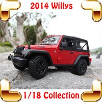 big scale model - New Year Gift Maisto Willys Big Model Scale Vehicle SUV JEEP Series Simulation Car So Real Cool Present House Decoration