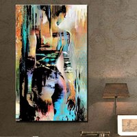 Wholesale hand painted modern nude painting colorful naked woman oil painting on canvas back of girl contemporary home decoration picture Present