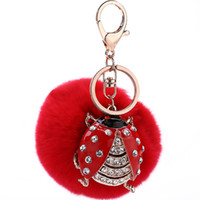 Wholesale The New Cute Set Auger Beetles Key Chain Auto Fashion Interior Accessories Sue Deserves to Act the Otter Rabbit Hair Bulb Trend