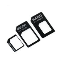 Wholesale SIM MICROSIM Adaptor Adapter in for Nano SIM to Micro Standard for Apple for iPhone g th