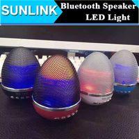 audio eggs - LED Flash Light Mini Bluetooth Speaker Egg Stand Style Mini Portable Wireless Speakers WS With Handsfree Mic Audio Big Sound Subwoofer
