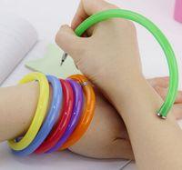 Wholesale Flexible Ball Pen Cute Soft Plastic Bangle Bracelet Ballpoint Pens School Office Gifts