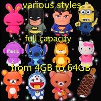 Pleine capacité réelle de la bande dessinée USB 2.0 stylo flash disque flash disque u-disque 4gb 8gb 16gb 32gb 64gb mémoire bâton différents styles