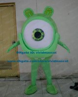 big orb - Funny Green Eye Eyeball Bulbus Oculi Eyebulb ORB Mascot Costume Cartoon Character Mascotte Adult Big Ears Thin Arms ZZ834 FS