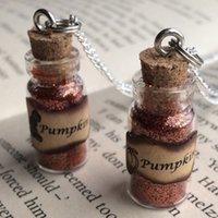 autumn spices - 12pcs Pumpkin Spice Bottle Necklace Pendant Fall Autumn Jewellery