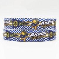 akron zips - ribbon inch mm akron zips printed grosgrain ribbon webbing yards roll for headband