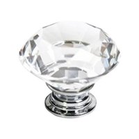 Cheap S5Q 10Pcs High Quality Crystal Glass Pull Handle Cabinet Drawer Kitchen Door Knob AAAFYY
