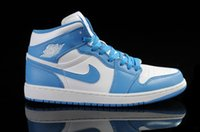 latex powder - Nike air jordan unc basketball shoes Men s athletic shoes high quality sports boots White Dark Powder Blue Carolina