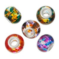 Wholesale 2015 New Arrival Glass European Beads Fit Charm Bracelets Round Ball Mixed mmx11mm beaded cancer bracelets
