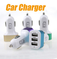 Wholesale 2016 Car Charger Traver Adapter Car Plug Hot Selling Triple USB Ports Car Charger For iPhone S Samung S7 Sony LG HTC