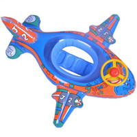 baby seat wheels - Funny Kids Baby Inflatable Swimming Pool Ring Seat Float Aairplane style plane with Wheel Horn