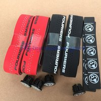 Wholesale New Fouriers Bicycle Drop Handlebar Tape Wraps PU Fixed Gear Road Bike Handle bar Tapes Belt With Holes Red Black