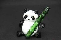 Wholesale 2016 New Glass Water Pipes Oil Rig Panda Animal Model Heady Bongs Cheap Bong with Herb Bowl High Quality Factory Latest Design Hot Sale
