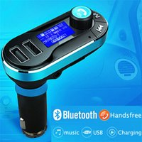 Wholesale BT66 Bluetooth Car Charger FM transmitter A Dual USB Car Charger MP3 Player Car Kit for Mobile Phone Universal