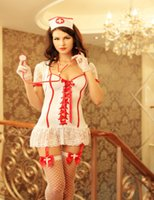 Cheap Wholesale-8501 Lenceria Sexy Lingerie Nurse Costume Cosplay Hot Erotic Lingerie Sexy Underwear Nurse Suite Exotic Apparel Free Shipping