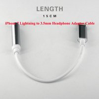Wholesale NEW For Apple Iphone Iphone7 Plus Earphone Headphone Converter Adapter Cable mm Female To Lighting Male Headset Connector Cord