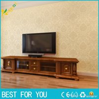 Wholesale 1pc European non woven Wall stickers wallpaper bedroom room wall sticker stereoscopic D wall paper Diamond embroidery sticker