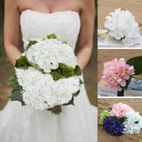 Wholesale Soft Touch New Hydrangea Bush In Paper White Tall silk flower pretty look for wedding banquet birthday floral diy decoration