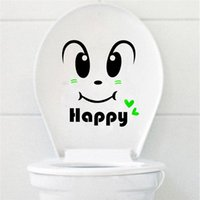 face art decor sticker - Cartoon Smiling Face Toilet Seat Wall Sticker Art Wallpaper Removable Bathroom Decal Home Decor Best Promotion