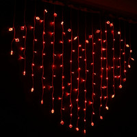 Wholesale Led christmas curtain light Wedding Decoration Light Heart Colors Fairy Curtain Lights Xmax Party Decor Home Outdoor led Strings lamps