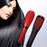 hair straightener - 2016 New Professional Antomatic LCD Hair Straightener Comb Styling Machine Digital ElectricStraightening Hair Comb With Spray
