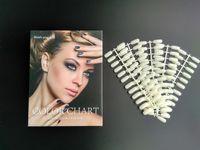 Wholesale Nail Art Polish UV Gel Color Display Card Book with Nail Tips Nail Color Chart Manicure Tools