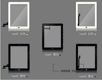 Wholesale NEW OEM Touch Screen Glass Panel with Digitizer for iPad Black and White DHL Shipping