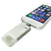Wholesale i Flash Drive HD USB Micro SD TF Memory Card Reader Device For Apple iPhone S iPad