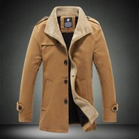 Wholesale 2015 winter jackets for men High quality large size wool coat stylish Men s thick jacket coat size m xl G5181