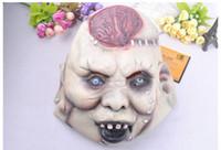Wholesale 2016 Latest Halloween mask Super terrorist devil head explodes the brain mask Halloween bar decoration items