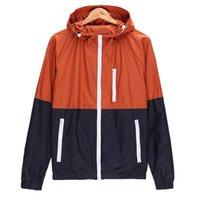 Wholesale Fall Men s windbreaker jacket men s casual hooded sweater coat thin Sports amp Outdoors