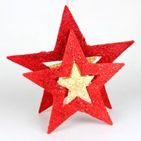 Wholesale Christmas decorations scene suspension arrangement is hanged adorn wrought iron star pendant