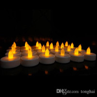 amber led christmas lights - 24pieces set Battery Christmas LED Tea Light Flickering Amber Tealights Candles H210492