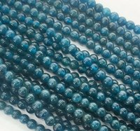 apatite gemstone - new mm blue ink Apatite Round Gemstones Loose Beads inch