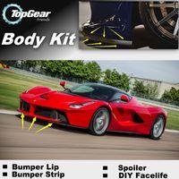 Wholesale Bumper Lip Lips For Ferrari LaFerrari Front Skirt Deflector Spoiler For Car Tuning The Stig Recommend Body Kit Strip