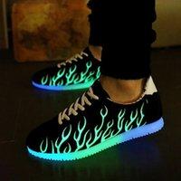 Wholesale 2016 New Led Luminous Light Emitting Men Shoes Couple Shoes Men Trend Movement Fluorescence