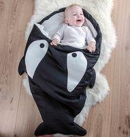 Wholesale Shark Sleeping Bag For Newborns Winter Baby Bed Swaddle Blanket Wrap Cute Bedding Baby Sleeping Bag