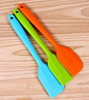 silicone spatula - Wedding Candy Cake Spatula Colorful Silicone Batter Scraper Cake Pilisher For Snowflake Cake Tools Birthday Christmas Party