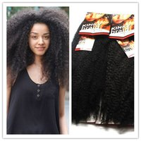 afro hair pieces - 18 quot Kanekalon Synthetic Hair Afro Kinky Curly Braid Hair for Black Woman Factory directly