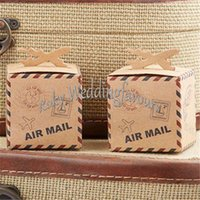 airs candy boxes - Airplane Candy Box quot Air Mail quot Favors Boxes Baby Shower Wedding Party Supplies Ideas cmx6cmx6cm
