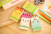 Wholesale 2015 cartoon notes notebook kawaii paper notes notepad animal stationery for students home Office School Supplies Scrapbook X009
