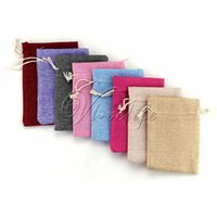 Wholesale Newest cm cm Vintage Natural Burlap Hessia Gift Candy Bags for jewelry wedding christmas Packaging Linen pouch Bags Supply