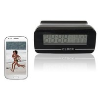 Wholesale Wireless WiFi Clock camera For Android IOS Phone Tablet Computer